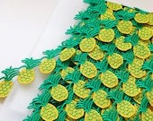 Pineapple Embroidered Guipure Trim - 37mm wide