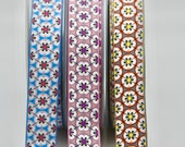 Floral Retro Ribbon 25mm Wide Beautiful Quality Woven Jacquard Retro Floral Ribbon