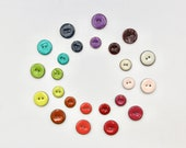 Colourful Enamelled Glazed Lacquered Buttons 22mm or 18mm Turquoise/Purple/Green/Burnt Orange/Cherry Red/Pink/Pale Pink/Ivory/Navy