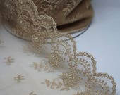 Nude Lace Trim - Exquisite Quality Lace Trim - Sold by 1/2 Metre-Wedding Bridal Lace/Vintage Lace/Lace Edging/Lingerie Bra Making Lace