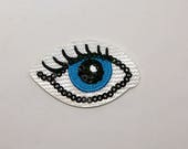 Sequin Eye Beautiful Quality Embroidered Iron on Motifs/Patches Appliqué Patch