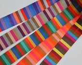 Bias Binding - Vibrant Striped Superb quality, Silky Smooth Bias Binding Tape/Trim - Colourful, Multicoloured, Stripy - 2.5cm/25mm Wide
