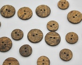 Natural Textured Coconut Shell Buttons Available in 13mm, 18mm or 23mm