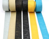 Metallic Webbing Bag Strap - Great quality - 30mm wide -  grey/silver, Khaki/gold, Black/gold, black/silver, mustard/gold, turquoise/silver.
