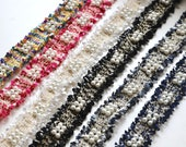 Fabulous Quality Looped Woven Trim with Gold Metallic Fibres and Pearl Studs Sold by the Half Metre, 3cm Wide