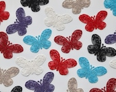 Butterfly Lace Motifs/Patches 5.5 x 3.5cm in Black, Red, Purple, Ivory, Taupe Iron on patches