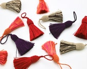 Silky Satin Tassels - 5cm - Red/Orange/Pink/Aubergine/Brown