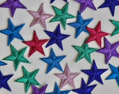 Embroidered Star Motifs - 3cm Iron on Star Appliqué Patch - Christmas Motif, Celestial, Superb Quality - Many colours