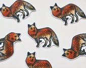 Fox motifs with Iridescent Stitch Detail-- High Quality iron-on patch with Embroidery Stitching -  4.5cm x 4cm