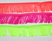 Lovely Quality Neon Fringe in Neon Pink, Neon Green, and Neon Coral - Sold by the Metre 5cm or 10cm Wide