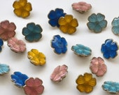 Beautiful Quality Enamelled Metal Buttons in Floral Sakura Blossom Design - 15mm & 20mm