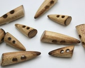 Great Quality Wooden Two Hole Toggles for Duffel Coats in 30mm or 50mm