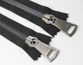 Super Chunky Metal Zips - XL Gigantic in Anthracite Gunmetal/Black 20cm & 40cm