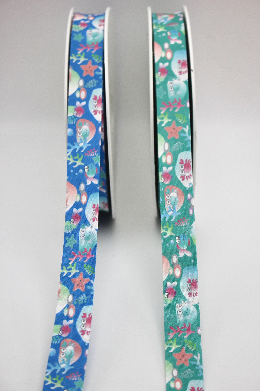 per metre tartan cotton kilt  bias binding 25mm blue green red white  cotton