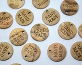 Sew on tags HAND MADE Nat...
