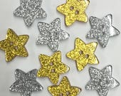 Star Shaped Buttons - Gol...