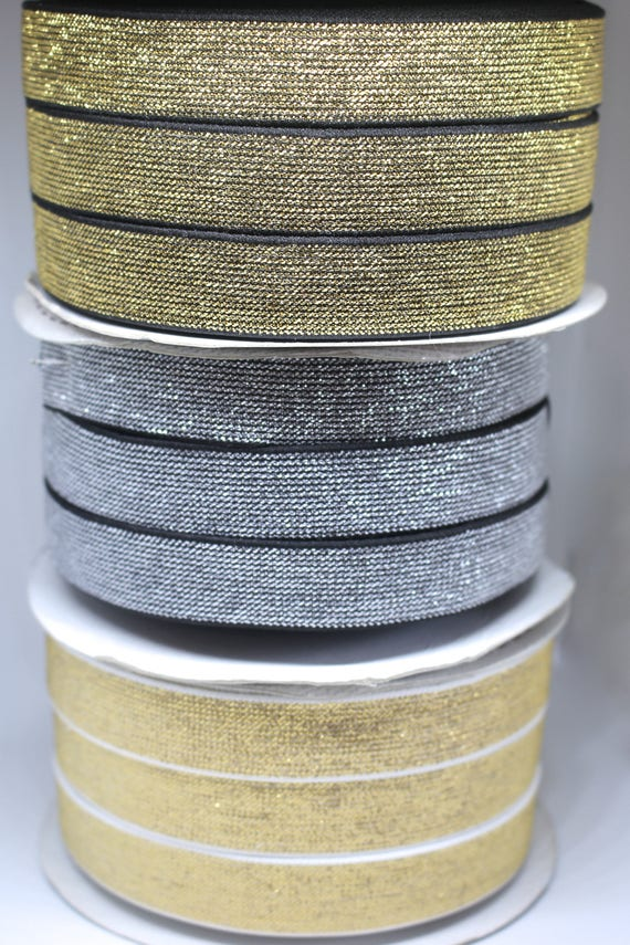 3 or 6 Meters of Metallic Lurex Bias Binding Tape Silver or Gold 20mm Wide