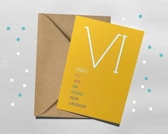 Greeting card, birthday, 40, 40igster birthday, minimalist greeting card, anniversary, round birthday, typographic birthday cards