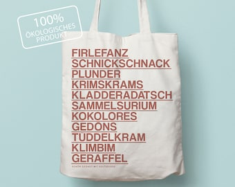 Tote bag - natural, frills, cotton bag, minimalist, Christmas, Christmas present, gifts for friends, typography