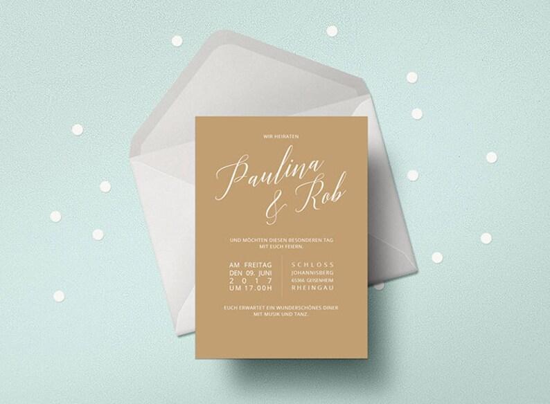 Wedding invitation Minmalistisch wedding card stylish image 0