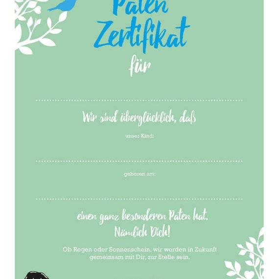 Urkunde Taufe Paten Zertifikat Geburt Weihnachten Kinder Familie Taufpaten Urkunde Erinnerung
