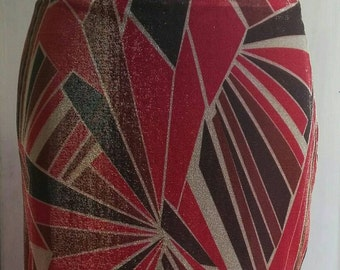 90S straight sparkly geometric skirt