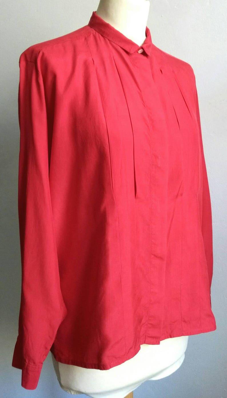 777758b594 Cacharel blouse red blouse silk blouse vintage blouse | Etsy