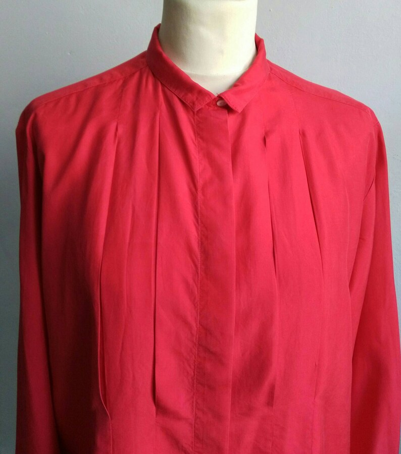 Cacharel blouse silk blouse red blouse vintage blouse