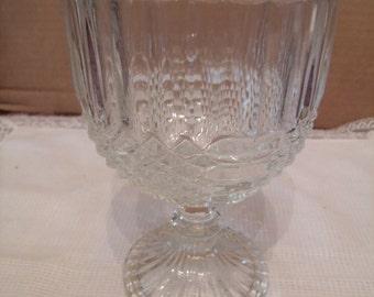 Vintage Glass Goblet/ Candy Dish, (# 156/9)