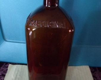 Vintage Medical Spring Water Bottle, (# 112/8)