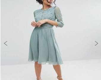 New coctail dress with lace