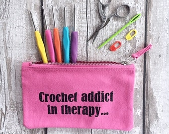 Magical Theme Map crochet hook case with 12 crochet hooks.