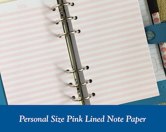 Personal Size Note Paper Planner Insert