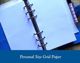 Personal Size Grid Paper Planner Inserts