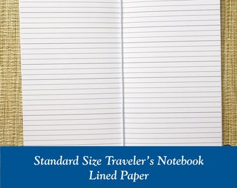 Standard Size Lined Paper Traveler's Notebook Insert