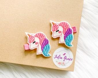 3 Designs UK Seller NEW Beautiful Glitter Unicorn /& Star Hair Clip