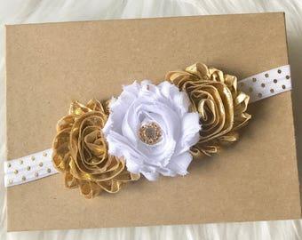 White   Gold Headband ce30df68983