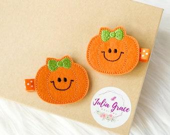 Pumpkin 1st birthday headband Felt pumpkin headband Birthday headband outfit