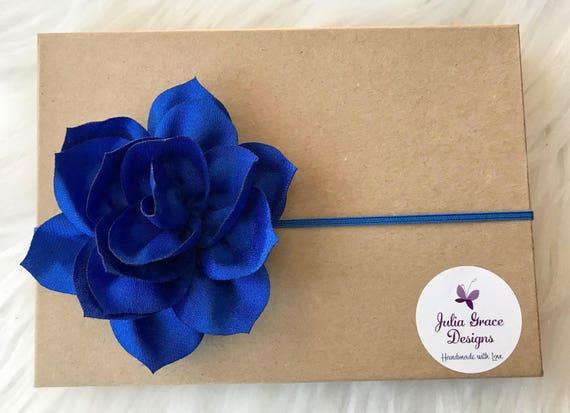 Royal Blue Headband Newborn Headband Baby Girl Headband  4d279024dad