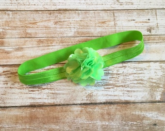 Lime Green Headband, Baby Headband, Infant Headband, Baby Girl Headband, Newborn Headband, Bright Green Headband, Green Headband, Headband