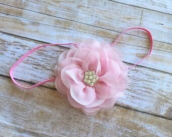 Pink Headband,  Pink Baby Headband,  Light Pink Headband, Baby Headband, Infant Headband, Baby Girl Headband, Newborn Headband, Headband