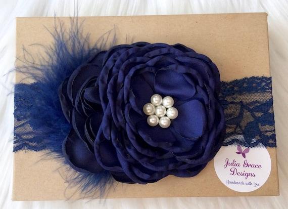 Rose Lace Baby Headband Baby Headband Flower Baby Headband Lace Headband Lace Baby Headband