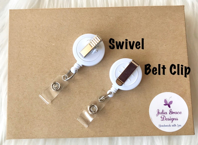 Retractable Badge Reel Nurse Badge Reel Glitter Badge Reel Badge Holder Hot Pink Ice Cream Cone Badge Reel Badge Clip RN Badge Reel