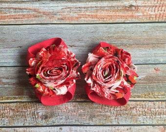 Red Floral Barefoot Sandals, Baby Barefoot Sandal, Newborn Shoes, Newborn Sandal, Baby Girl Shoe, Baby Girl Sandal, Baby Shoes, Baby Sandals
