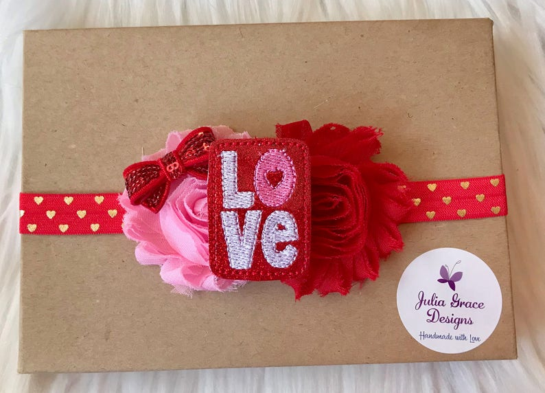 Newborn Headband Headband Baby Hair Bow Infant Headband Girl Headband Baby Girl Headband Valentine/'s Day Headband Baby Headband Baby