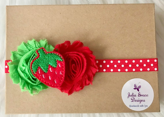 Strawberry Headband Summer Headband Baby Headband Baby Girl  400503de679
