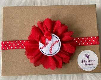 Baseball Headband, Baby Headband, Newborn Headband, Infant Headband, Baseball Bow, Headband, Baseball Baby Headband, Toddler Headband, Baby