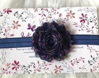 Navy Blue Headband, Fall Headband, Fall Baby Headband, Floral Headband, Baby Headband, Newborn Headband, Infant Headband, Baby Girl Headband