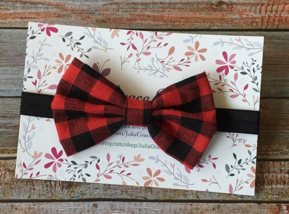 Plaid Headband Buffalo Plaid Plaid Bow Headband Baby  f0e875a52bd