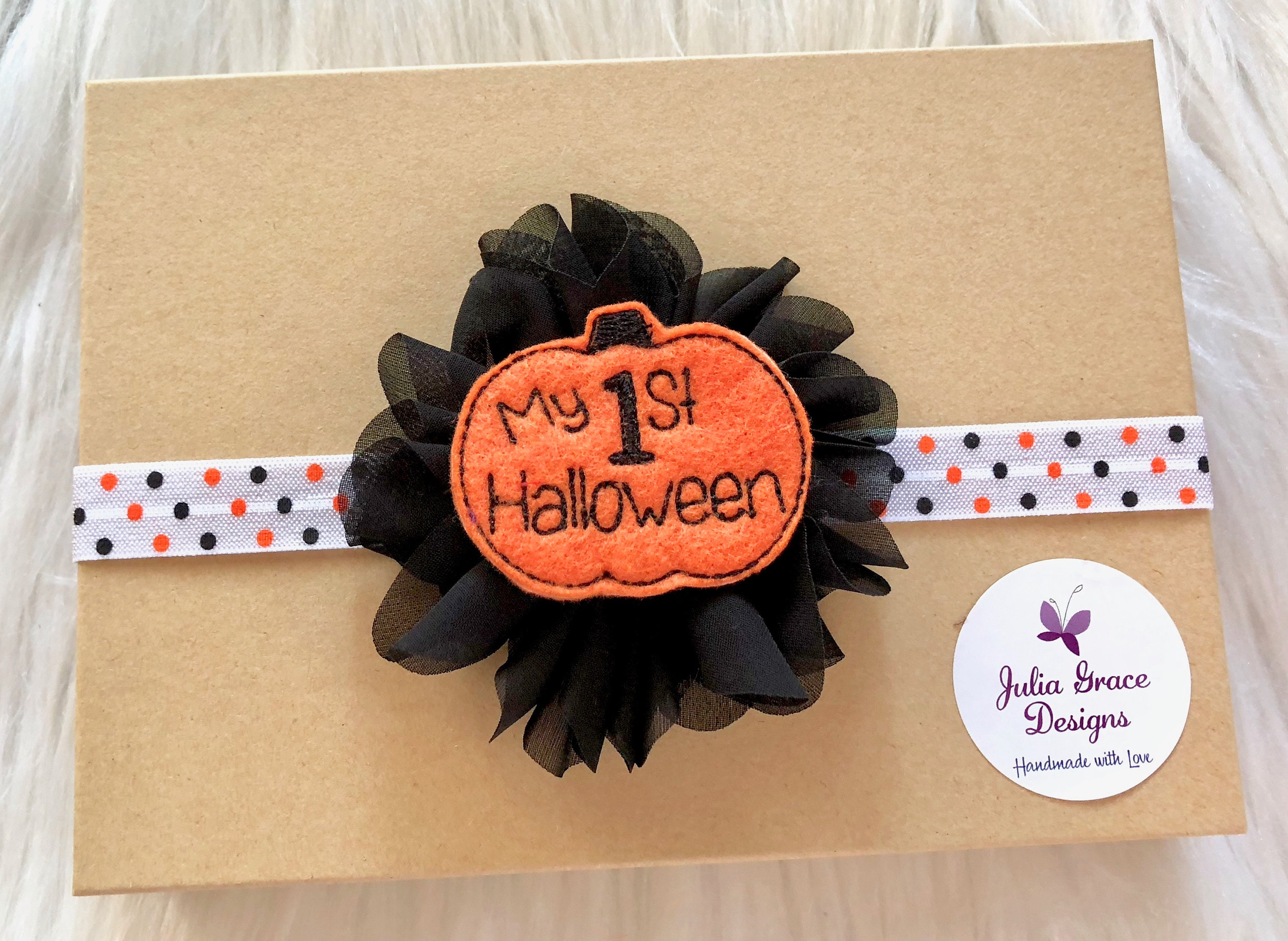 baby's first halloween headband my first halloween | etsy